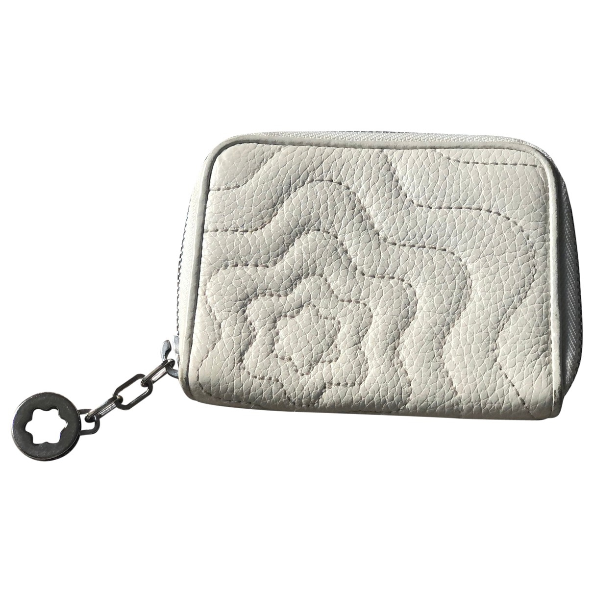 Montblanc - Portefeuille   pour femme en cuir - blanc