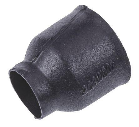TE Connectivity Boot Black, Fluid Resistant Elastomer