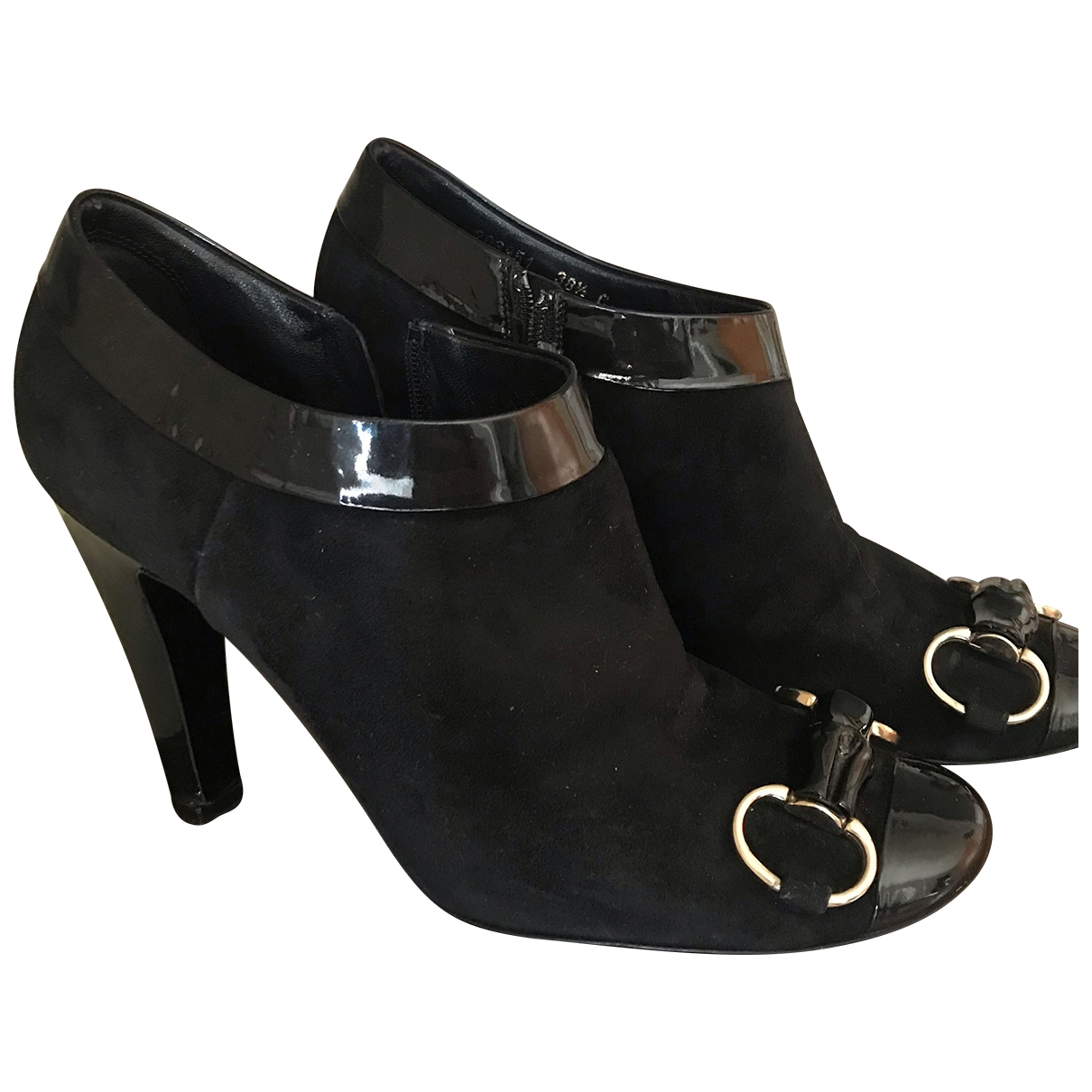 Gucci \N Black Suede Ankle boots for Women 38.5 EU