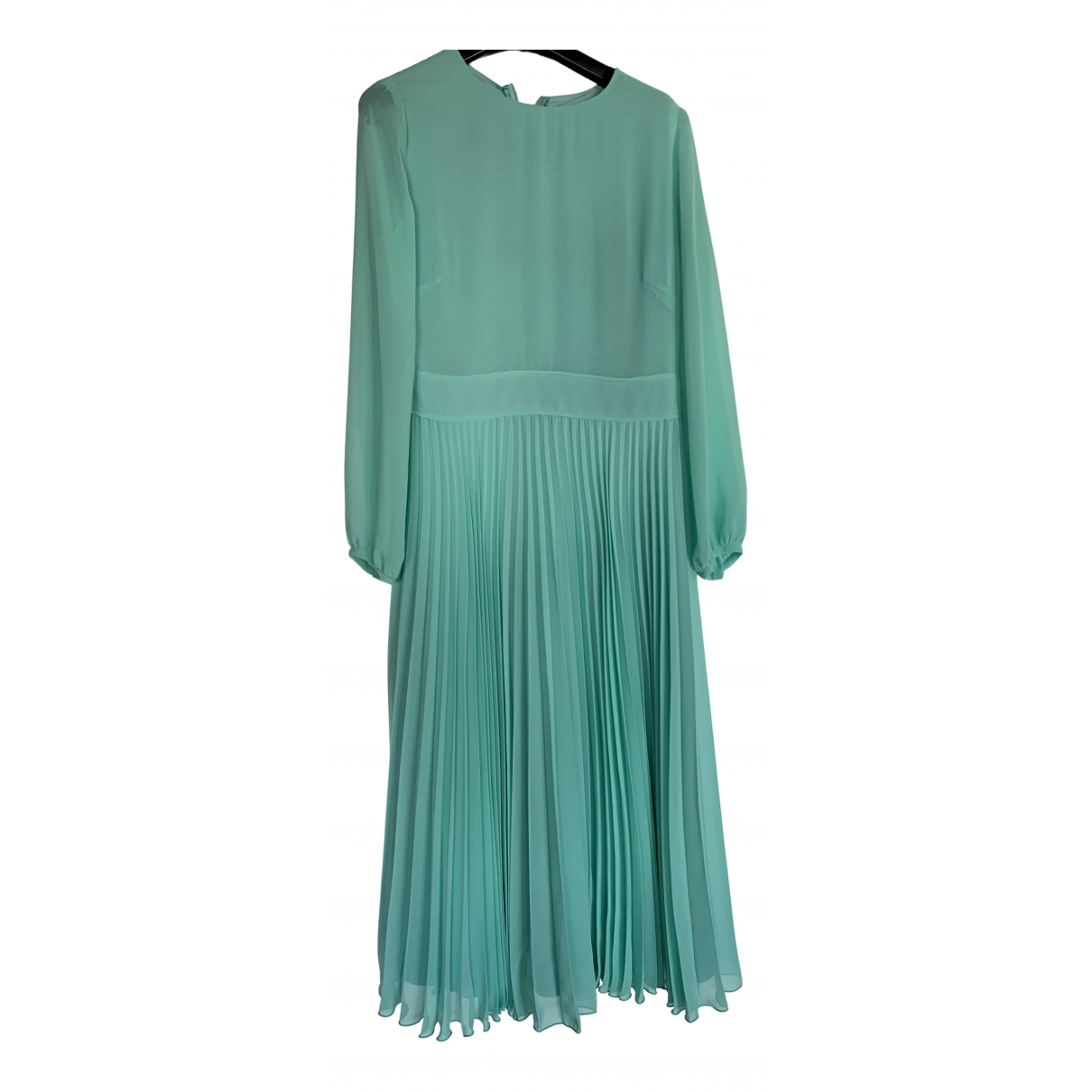 Non Signé / Unsigned N Turquoise dress for Women 40 FR