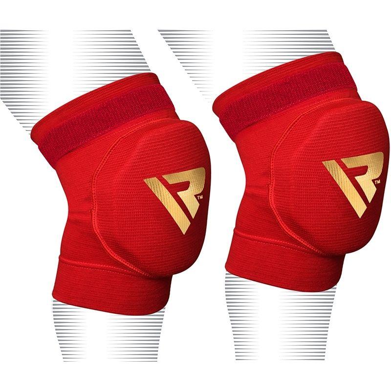 RDX Boxe Pro Sport Genouillere MMA Protection Moyenne  Rouge Bonneterie