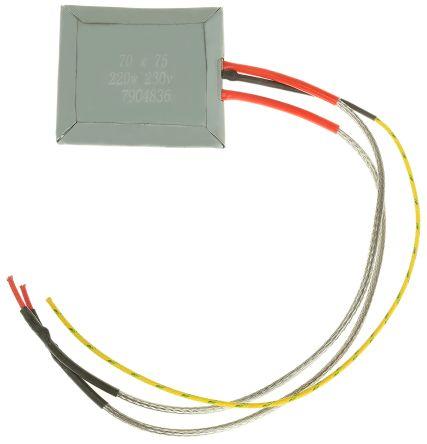 RS PRO Flat Plate Mica Heater 220W 70x75mm