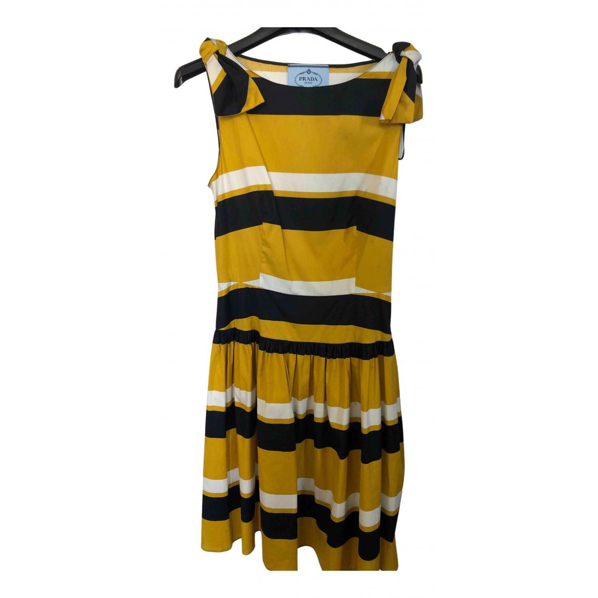 Prada \N Kleid in Baumwolle - Elasthan