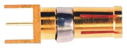 FCT - A MOLEX COMPANY FME Series Female Solder D-Sub Connector Coaxial Contact, Gold over Nickel Plated Coaxial