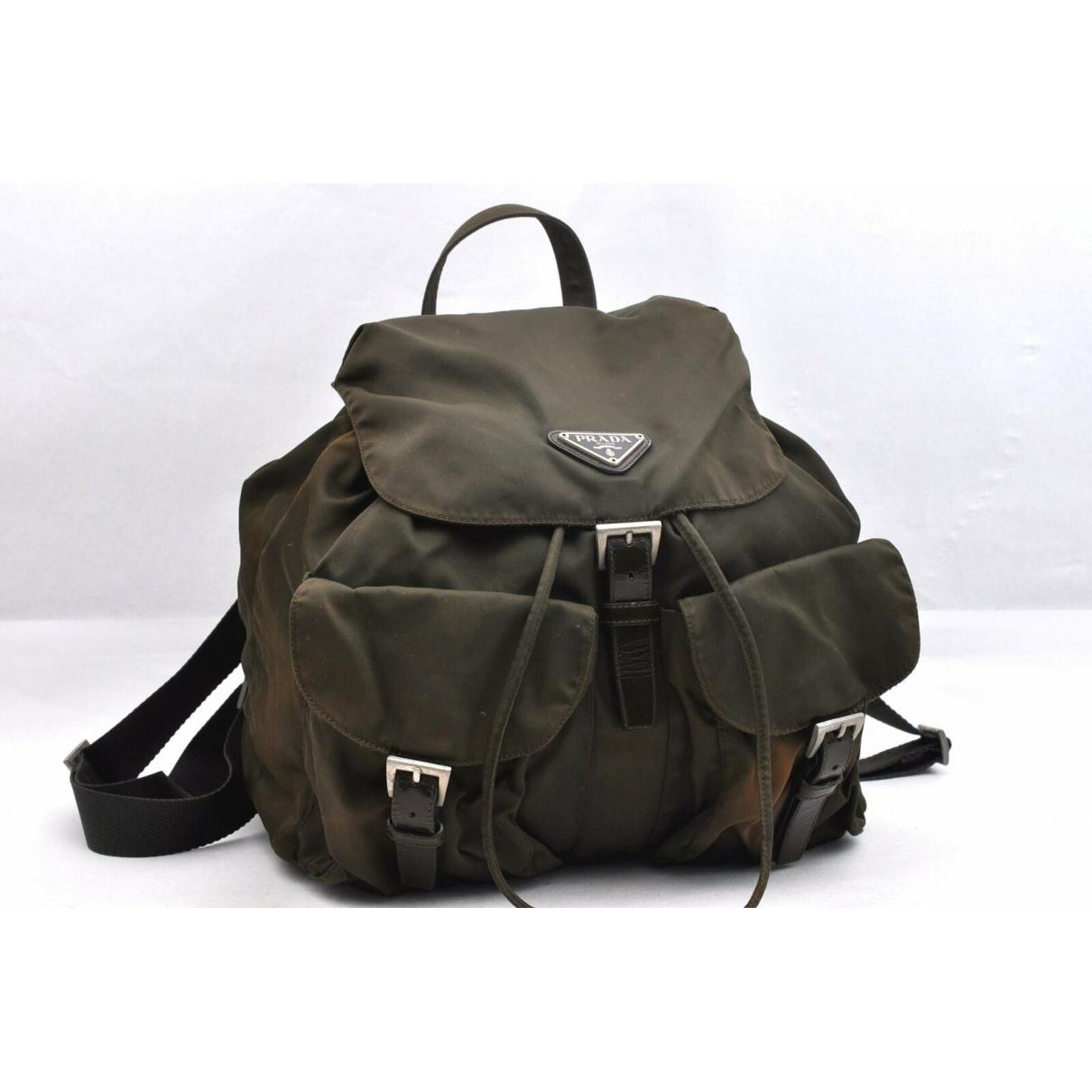 Prada \N Khaki Leather backpack for Women \N