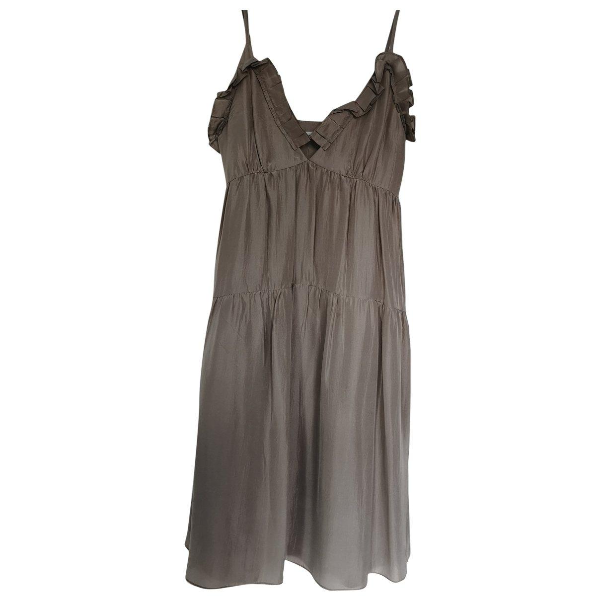 Masscob \N Kleid in  Grau Seide