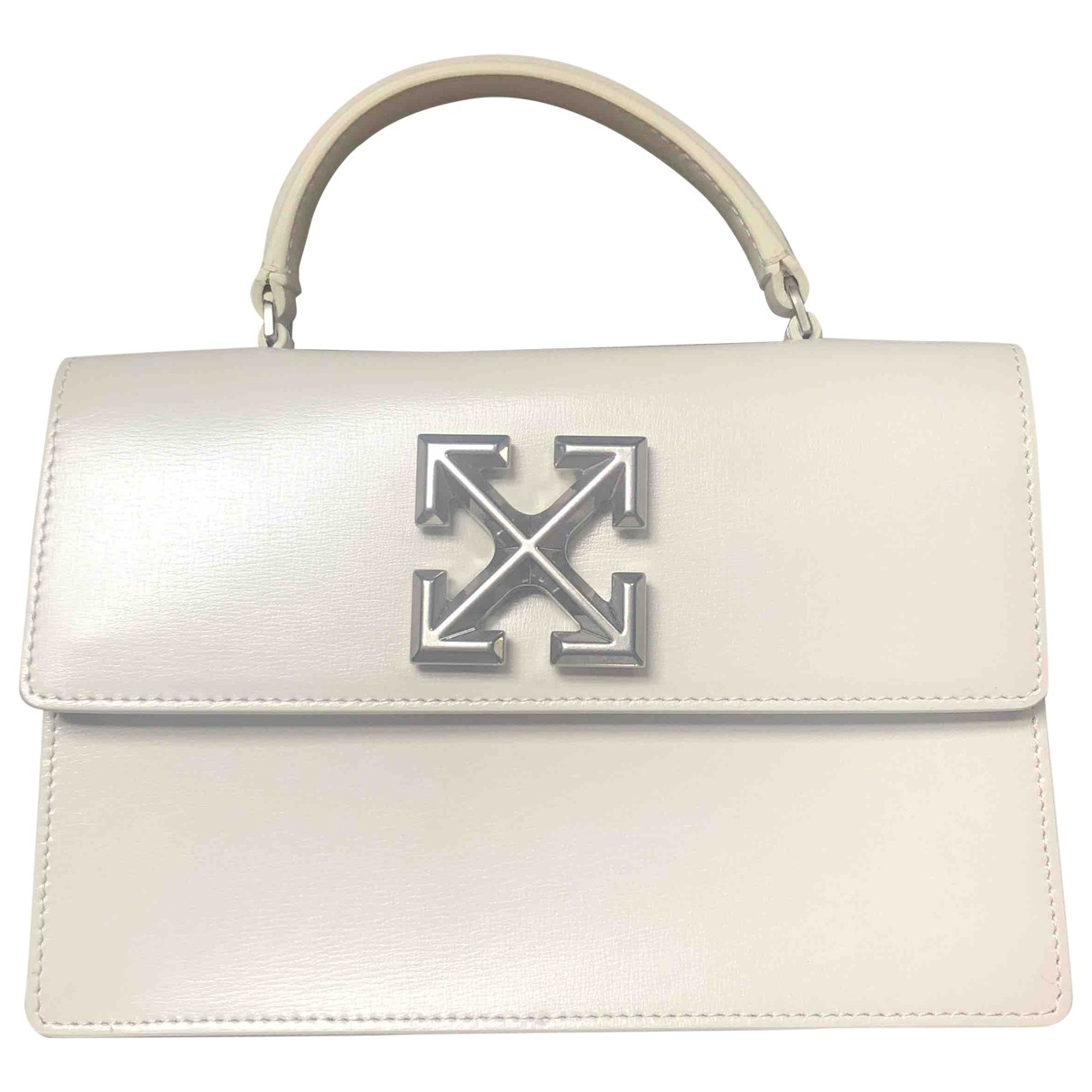 Off-white \N White Leather handbag for Women \N