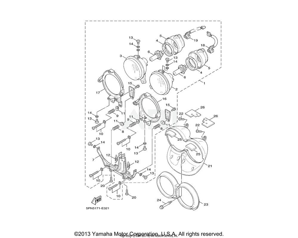 Yamaha OEM 5PJ-H4332-00-00 SPRING, SCREW