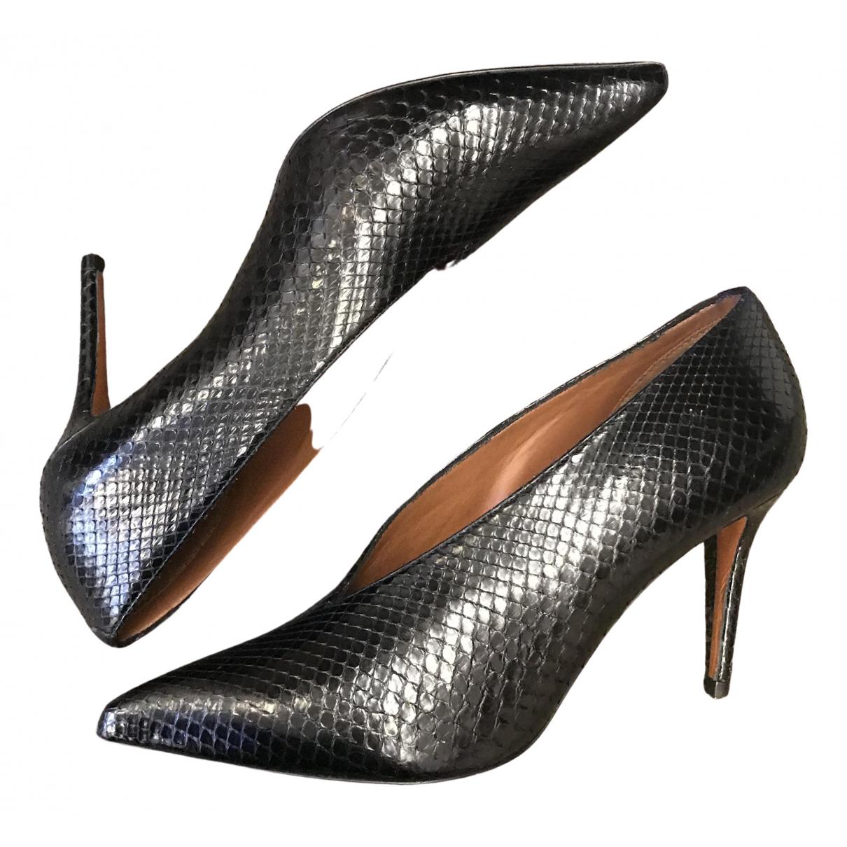 Celine - Escarpins   pour femme en python - noir