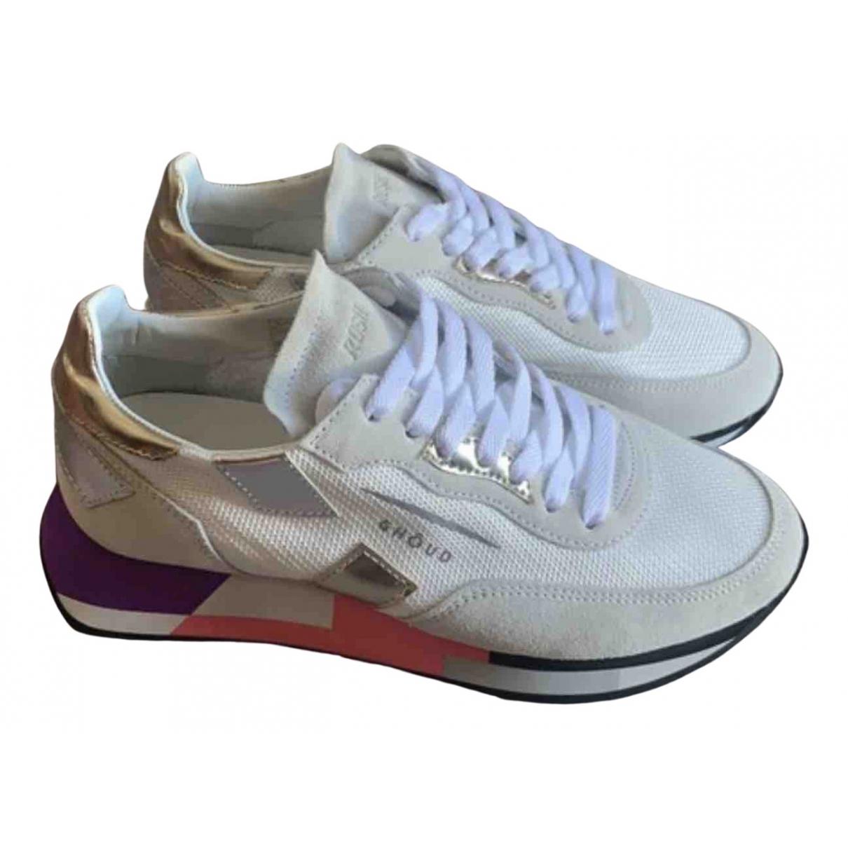 Ghoud \N Sneakers in  Weiss Leinen