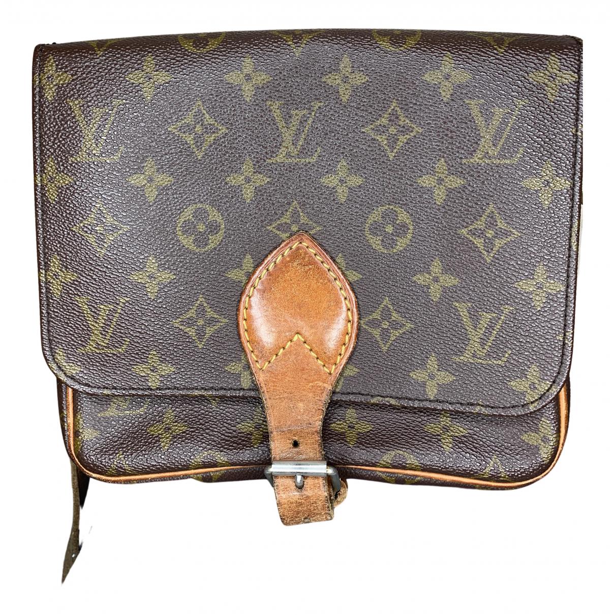 Louis Vuitton Cartouchière Brown Cloth handbag for Women N