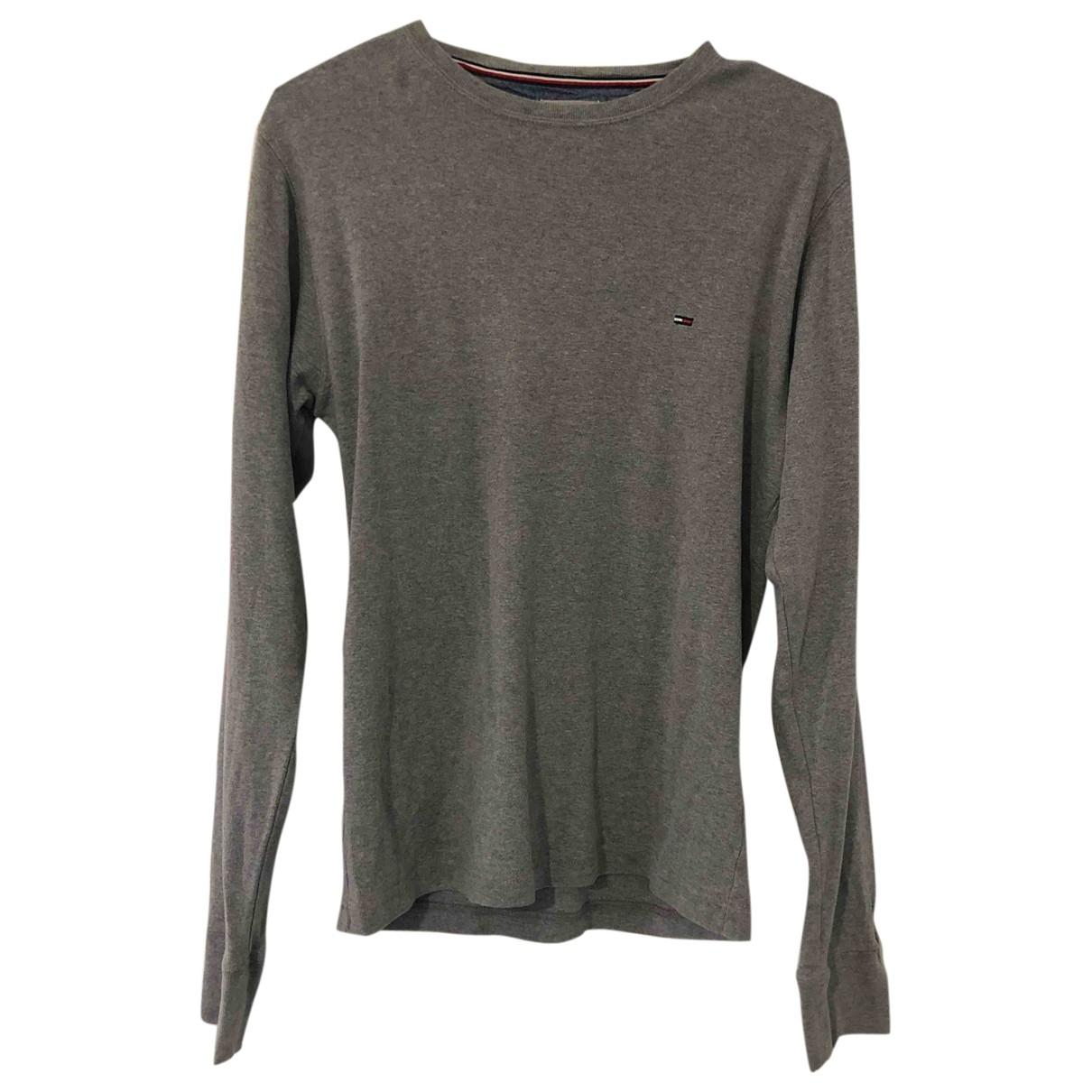 Tommy Hilfiger - Tee shirts   pour homme en coton - gris