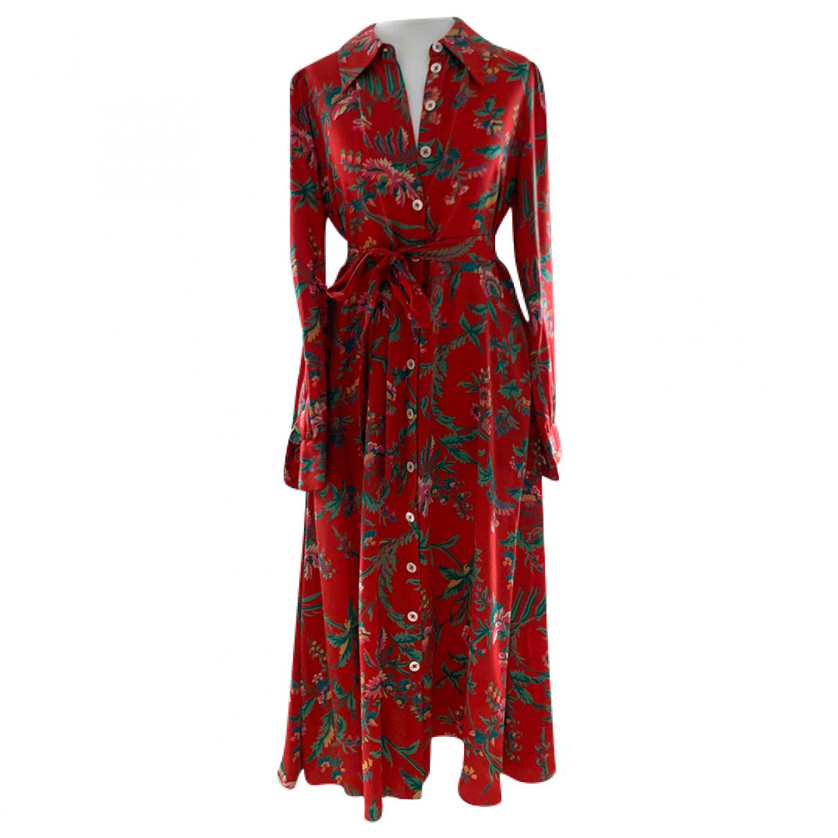 Lk Bennett \N Kleid in  Rot Seide