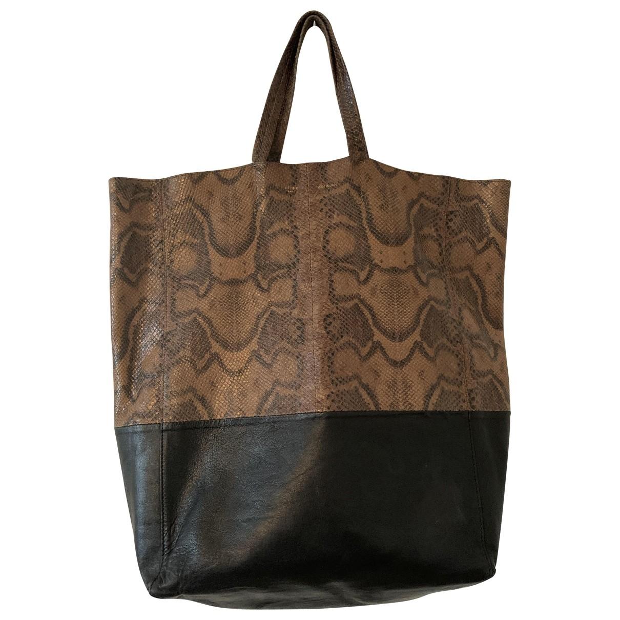 Celine Cabas Handtasche in  Schwarz Python