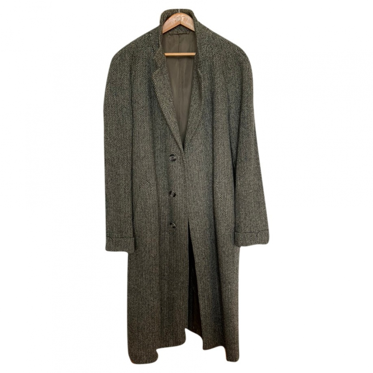 Non Signé / Unsigned \N Grey Wool coat  for Men 50 IT
