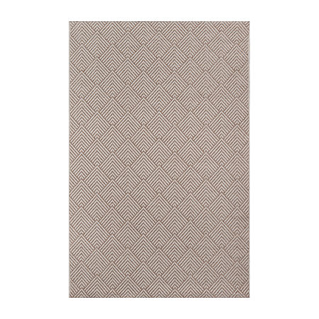 Momeni Como 3 Rectangular Indoor/Outdoor Rugs, One Size , Beige