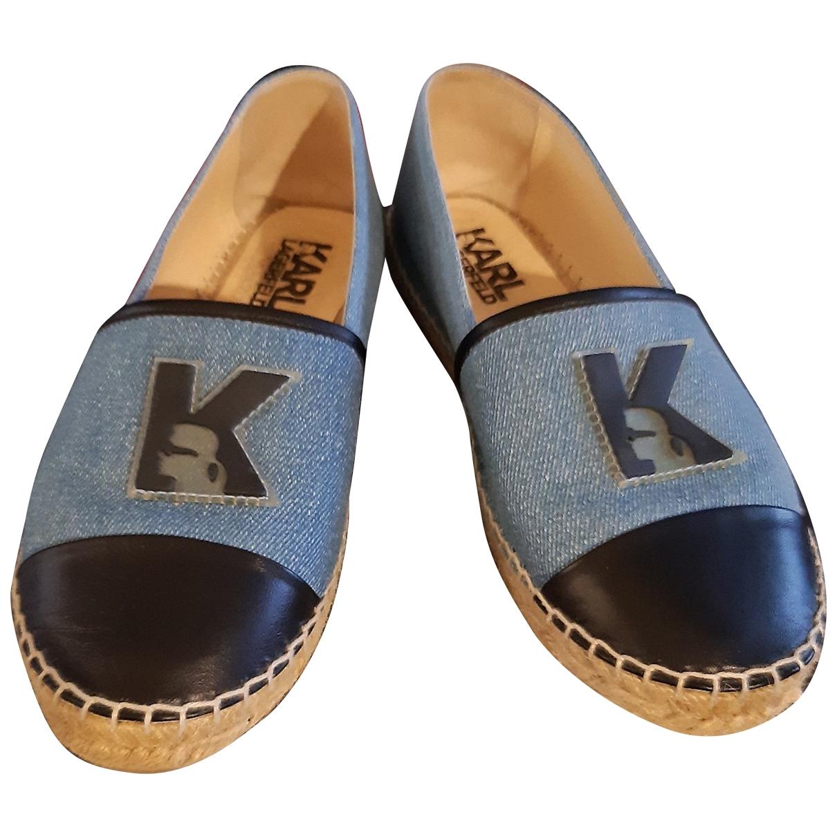 Karl \N Espadrilles in  Blau Denim - Jeans