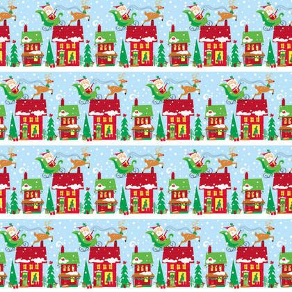 Colorful Santa Gift Wrap, 30