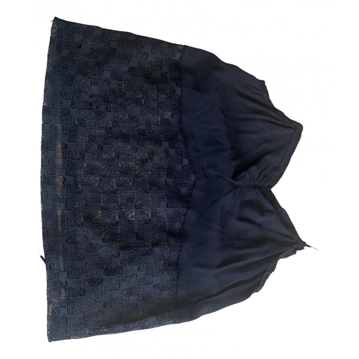 Bel Air - Top   pour femme en dentelle - noir