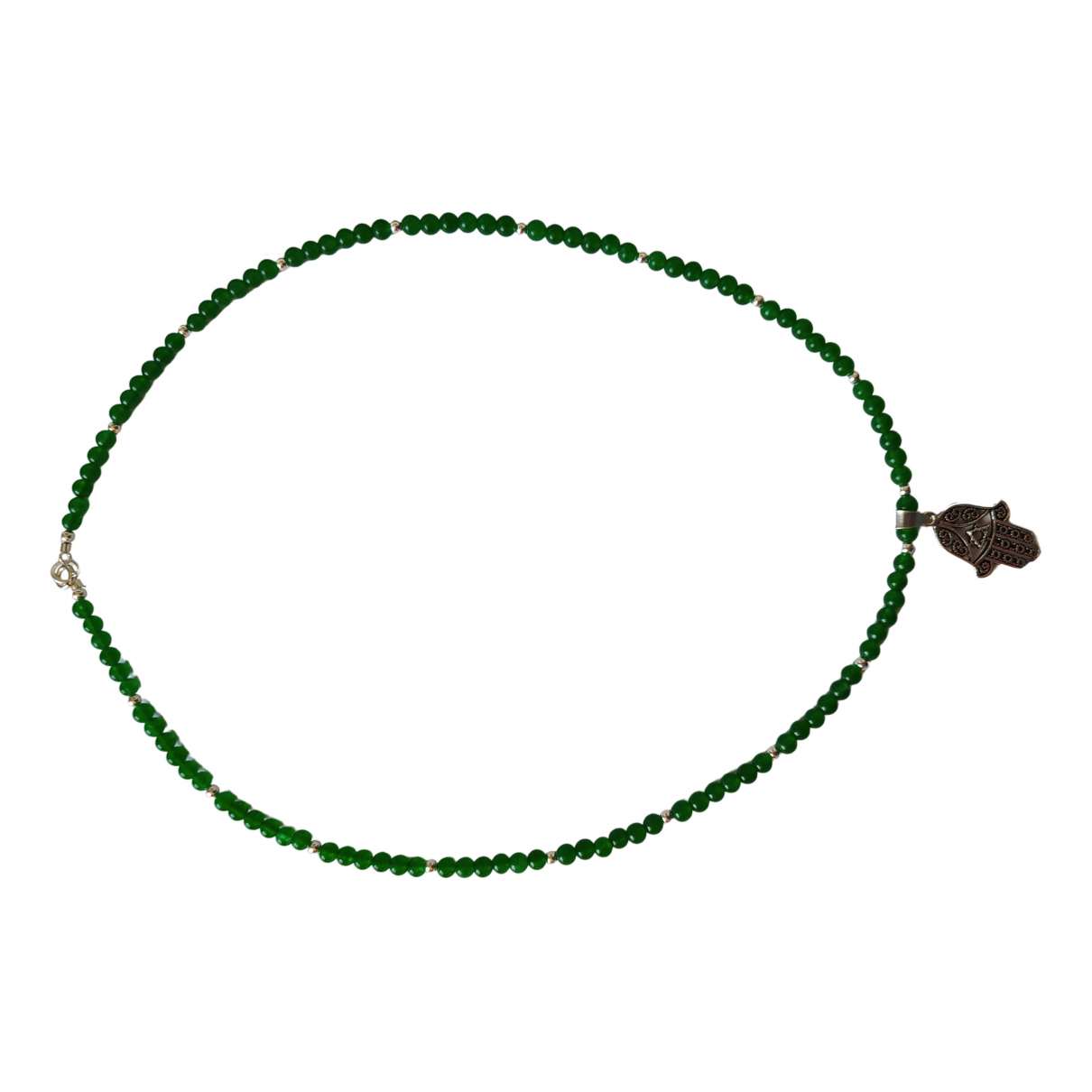 - Collier Emeraude pour femme en perles - vert