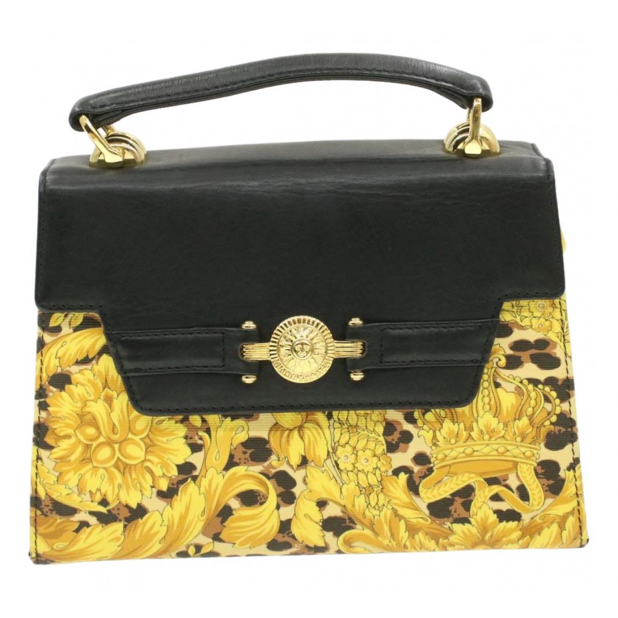 Versace - Sac a main   pour femme en toile - jaune