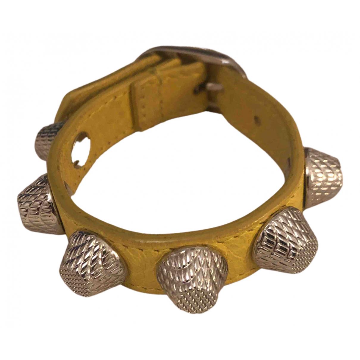 Balenciaga - Bracelet   pour femme en cuir - jaune