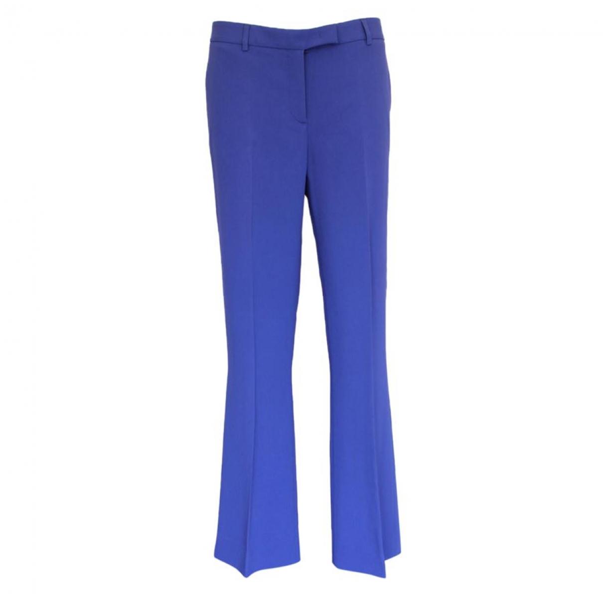 Pantalon en Viscosa Azul Non Signe / Unsigned