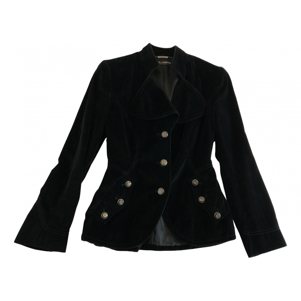 Dolce & Gabbana \N Jacke in  Schwarz Samt