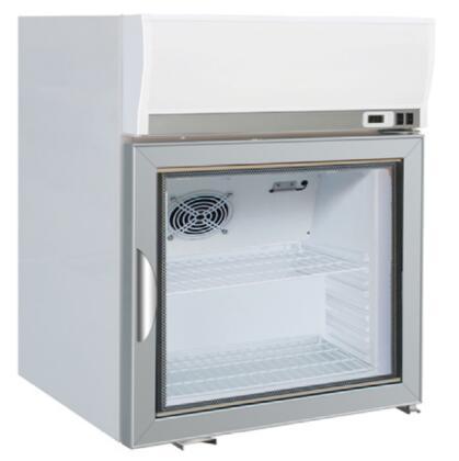 MXM125R 22 X-Series Merchandising Display Refrigerator with 2.5 Cu. Ft. Capacity  Painted Steel Exterior  Digital Display  Manual Defrost  ABS