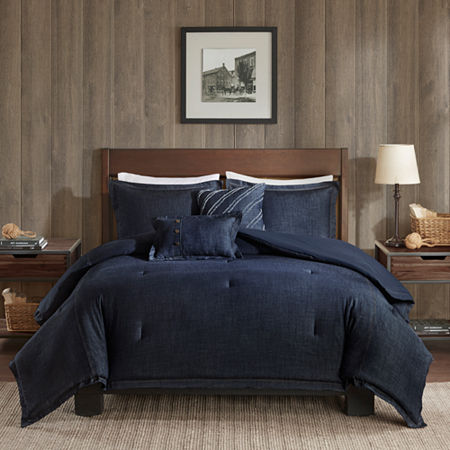 Woolrich Perry Cotton Oversized Comforter Set, One Size , Blue