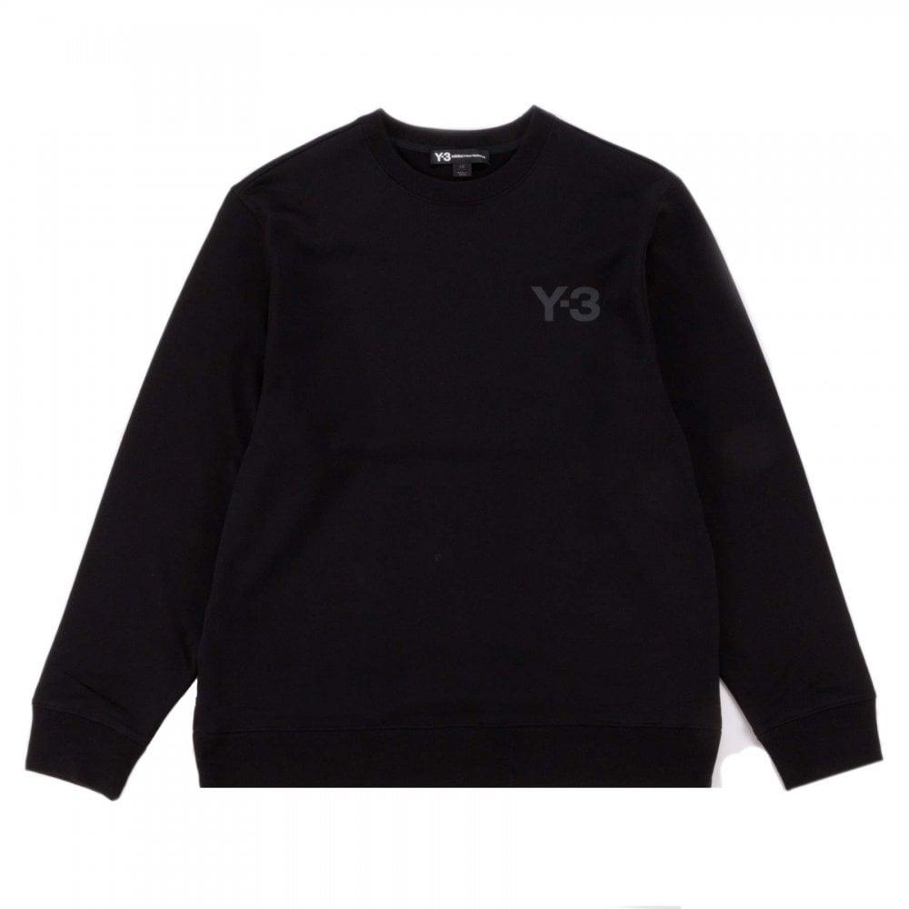 Y-3 M Logo Crew Sweater Colour: BLACK, Size: LARGE