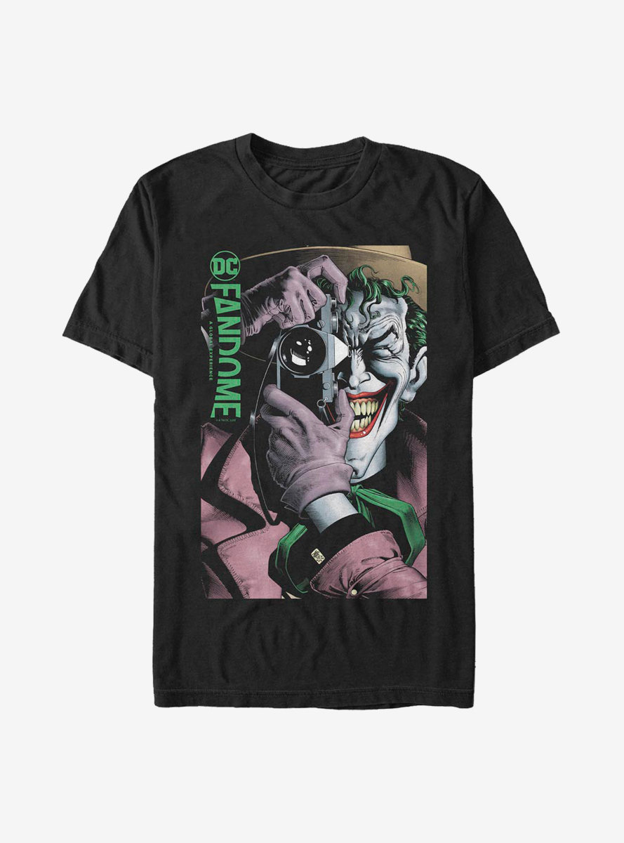 DC Comics Batman Joker Camera T-Shirt DC Fandome Event Exclusive