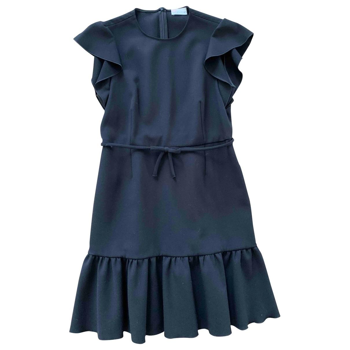 Red Valentino Garavani \N Kleid in  Schwarz Polyester