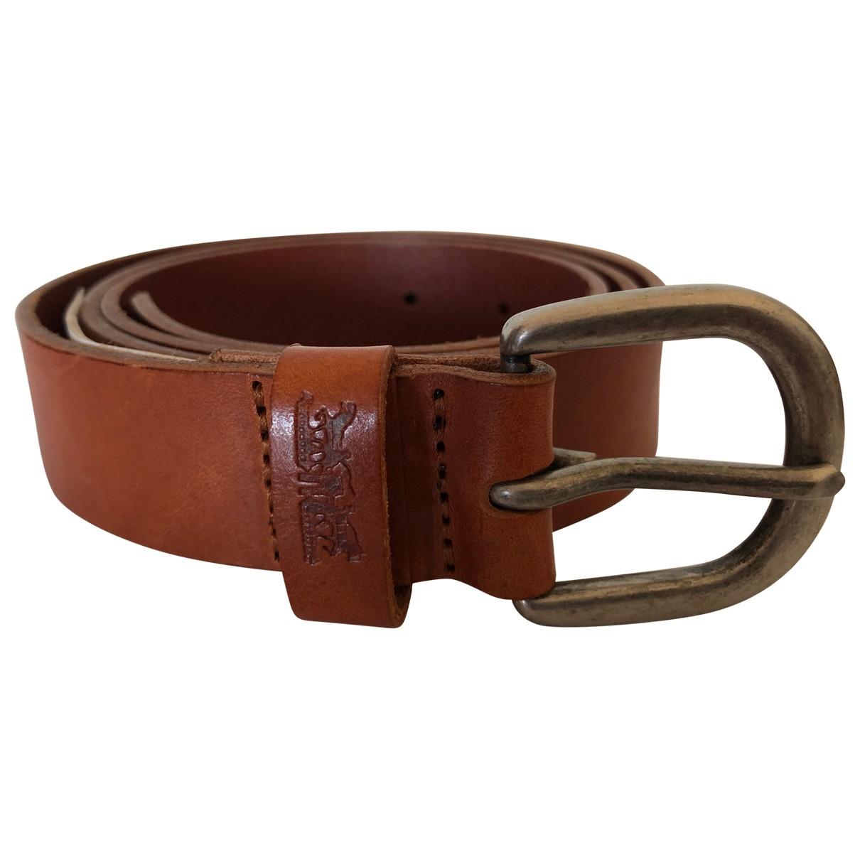 Levi's \N Camel Leather belt for Women M International