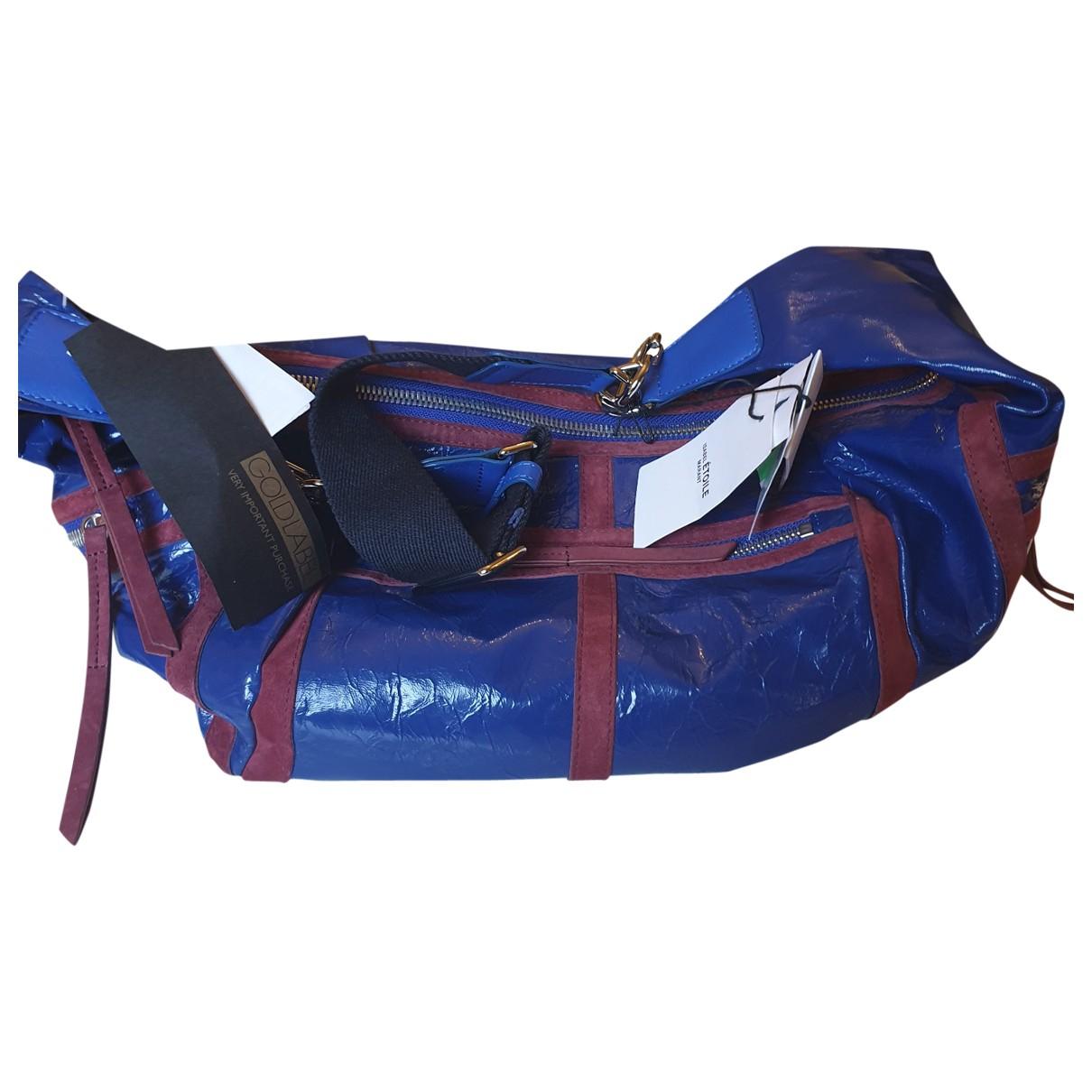Isabel Marant \N Handtasche in  Blau Lackleder