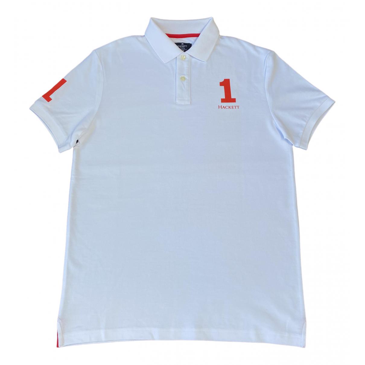 Hackett London - Polos   pour homme en coton - blanc