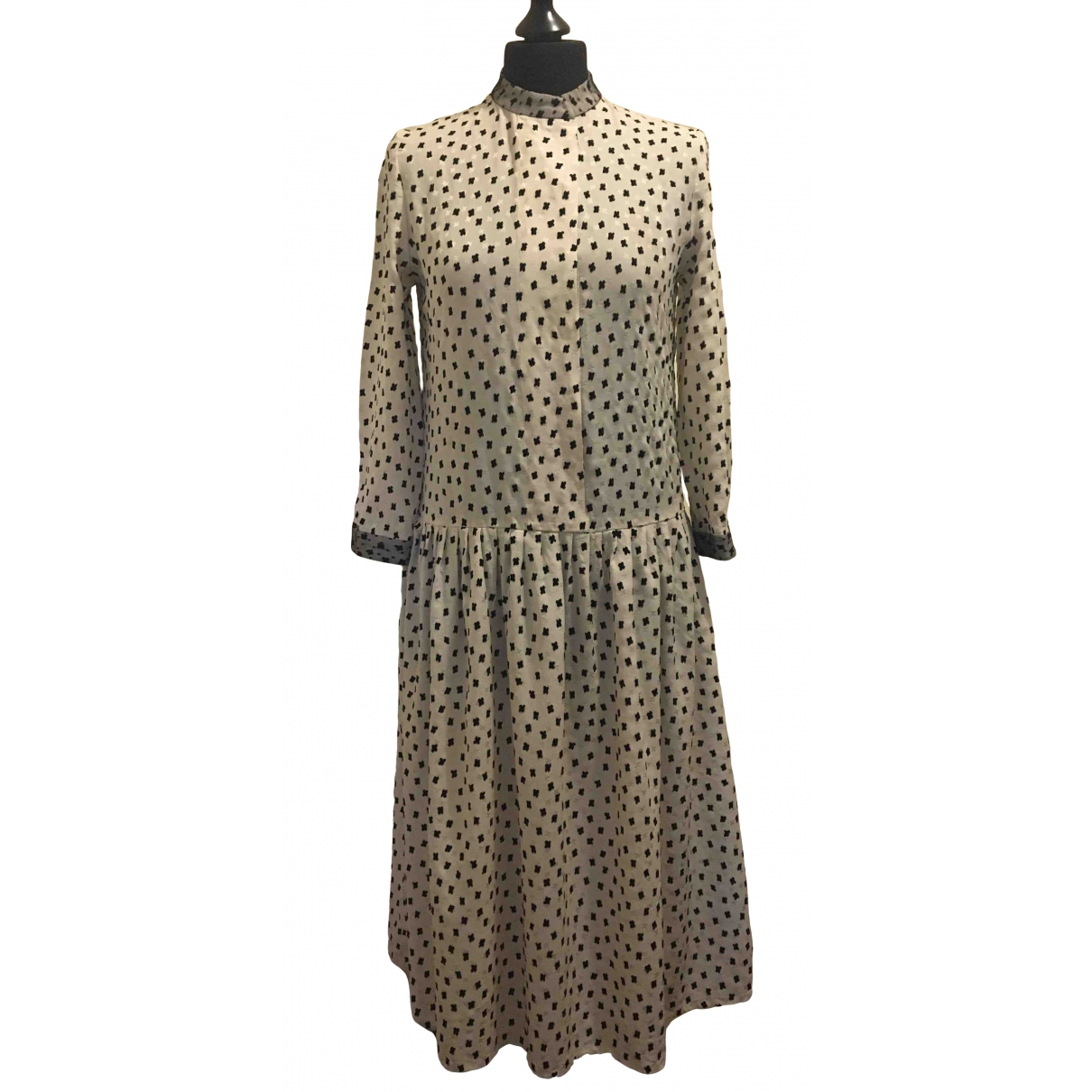 Vilshenko \N Kleid in  Weiss Seide