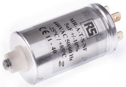 RS PRO 5μF Polypropylene Capacitor PP 440V ac ±10% Tolerance Screw Mount