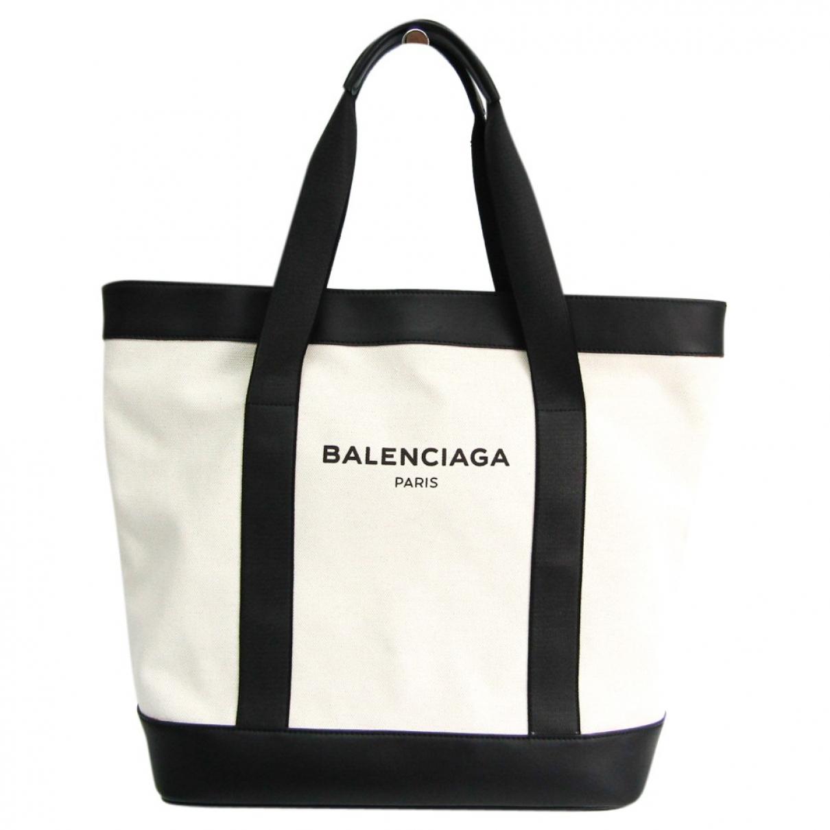 Balenciaga \N Handtasche in  Schwarz Leinen