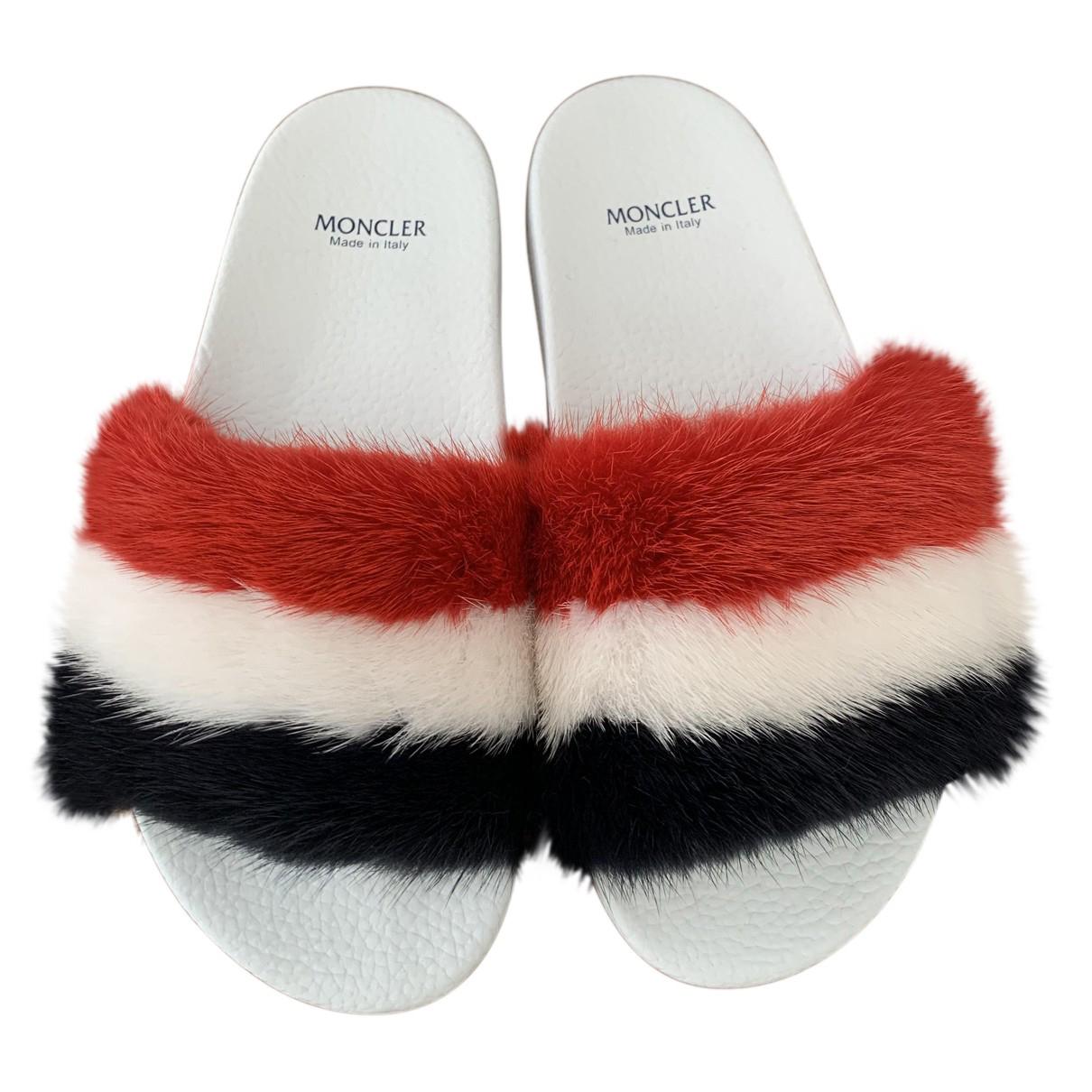 Moncler - Sandales   pour femme en caoutchouc - multicolore