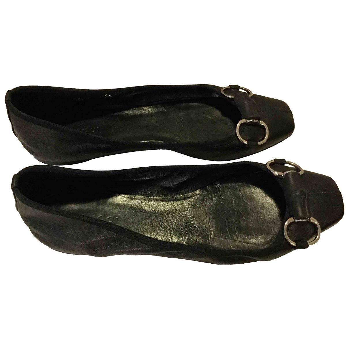 Gucci - Ballerines   pour femme en cuir - noir