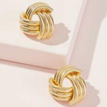 Spirale Detail Ohrstecker 1 Paar