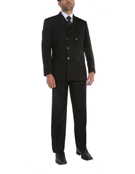 Mens Black 3x2 = 6 buttons Style Suits Jacket & Pants