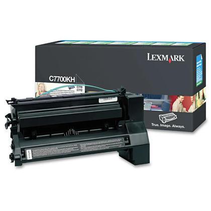 Lexmark C7700KH cartouche de toner du programme retour originale noire haute capacité