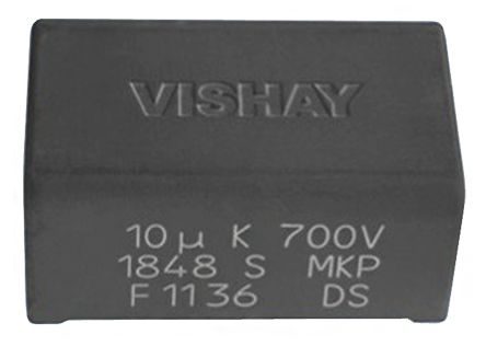Vishay 10μF Polypropylene Capacitor PP 500V dc ±5% Tolerance Through Hole MKP1848S DC-Link Series