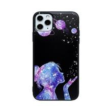 1 Stueck iPhone Schutzhuelle mit Galaxis & Figur Grafik