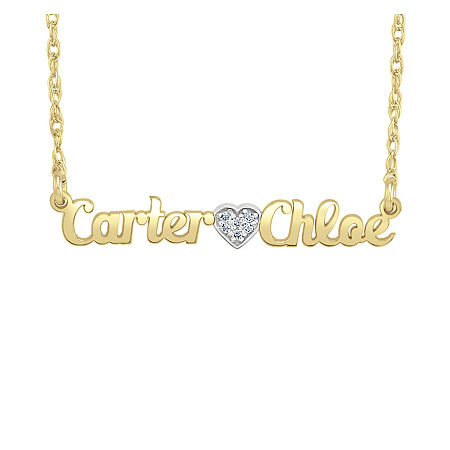Personalized Diamond Accent Name Necklace, One Size , Yellow