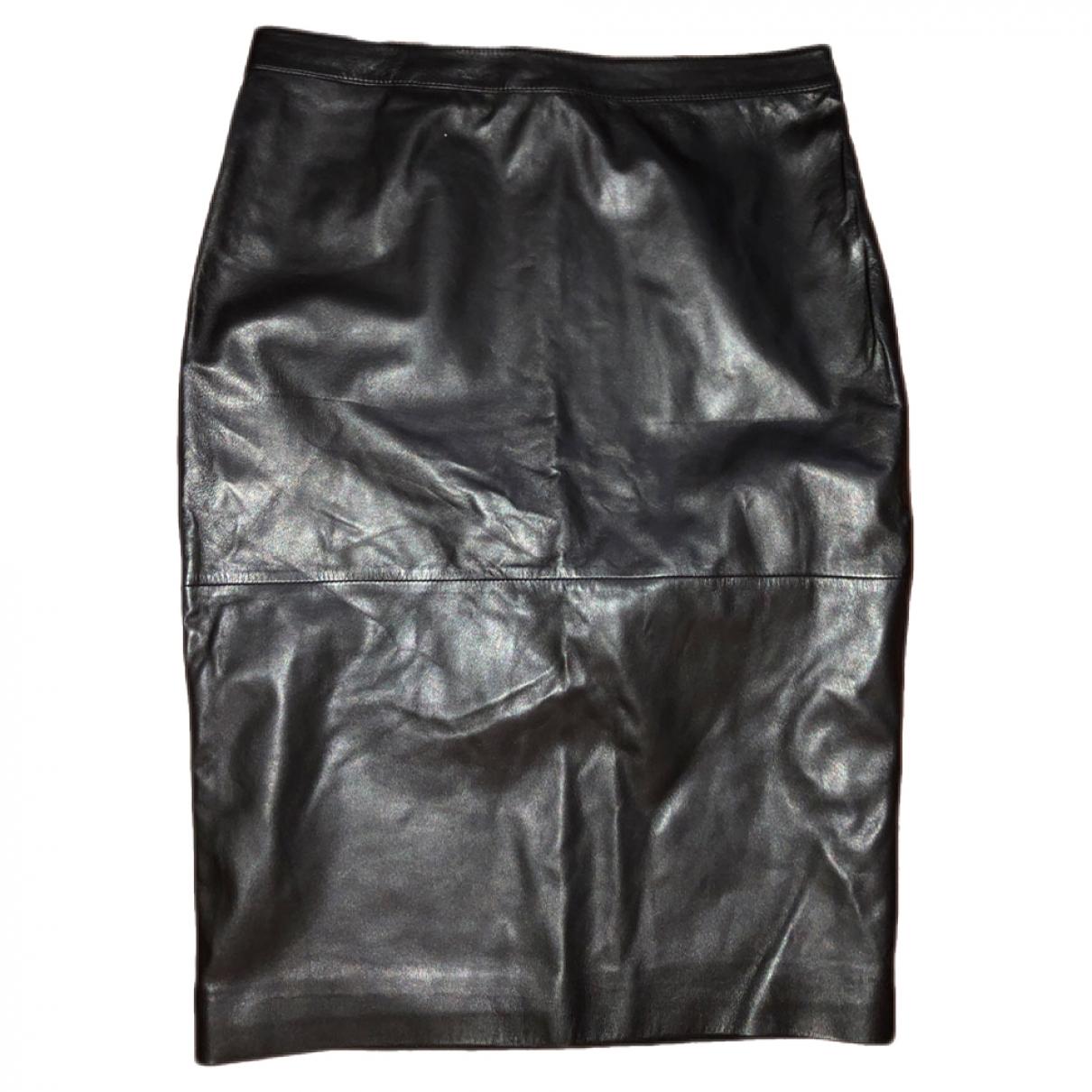 Givenchy \N Rocke in  Schwarz Leder