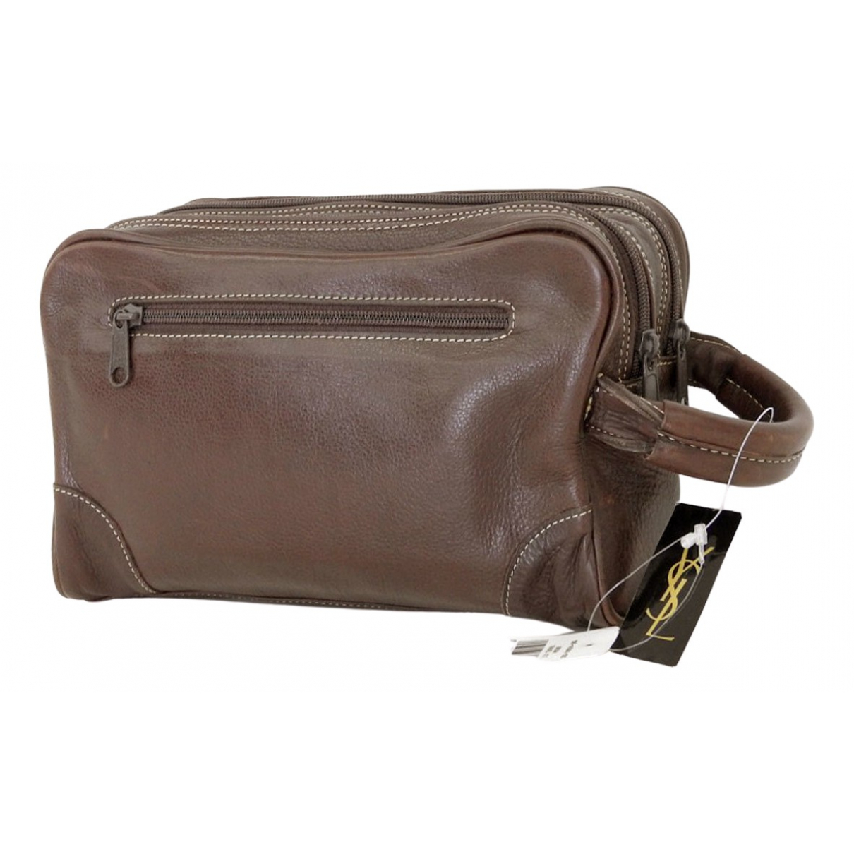 Yves Saint Laurent - Sac de voyage   pour femme en cuir - marron