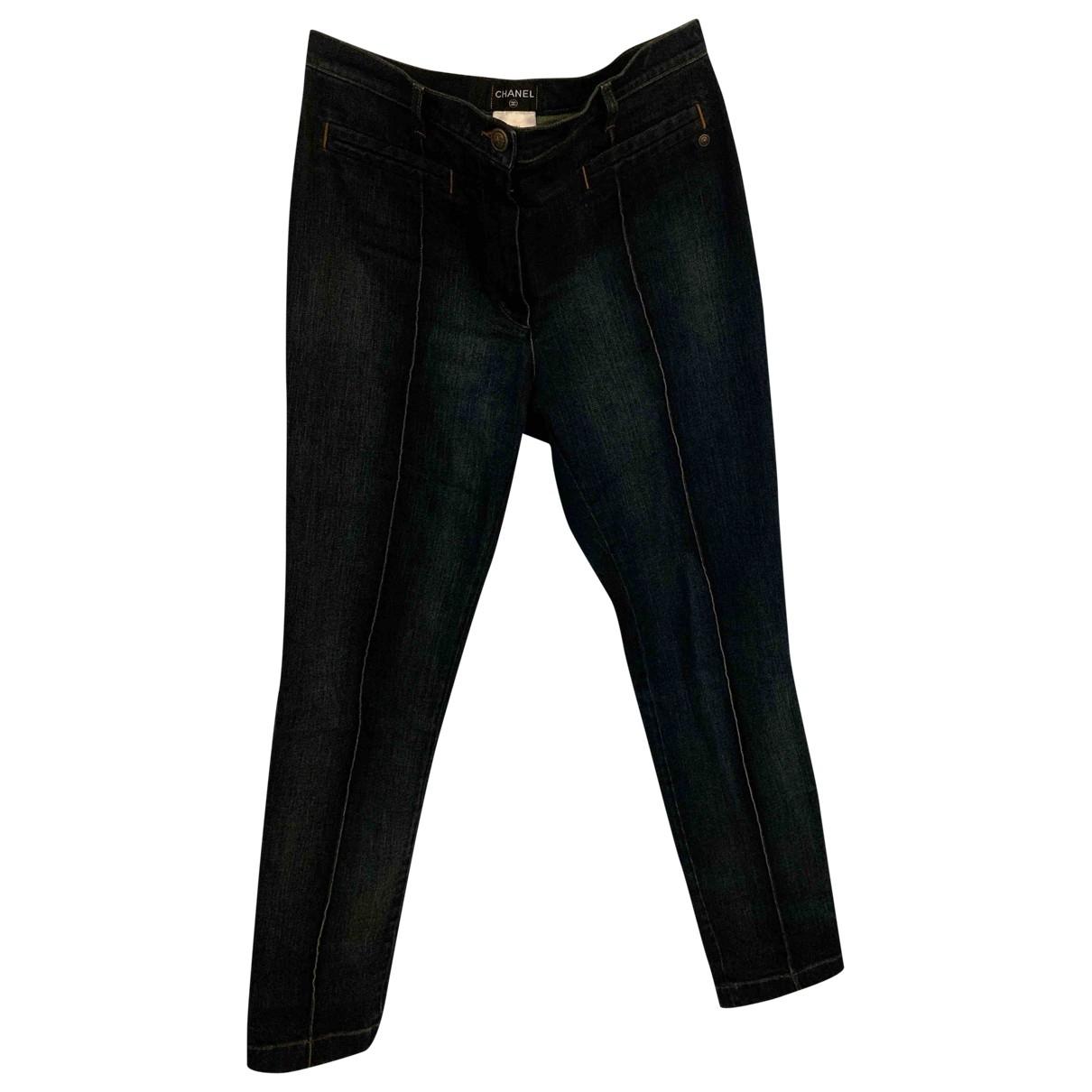 Chanel \N Jeans in  Blau Baumwolle